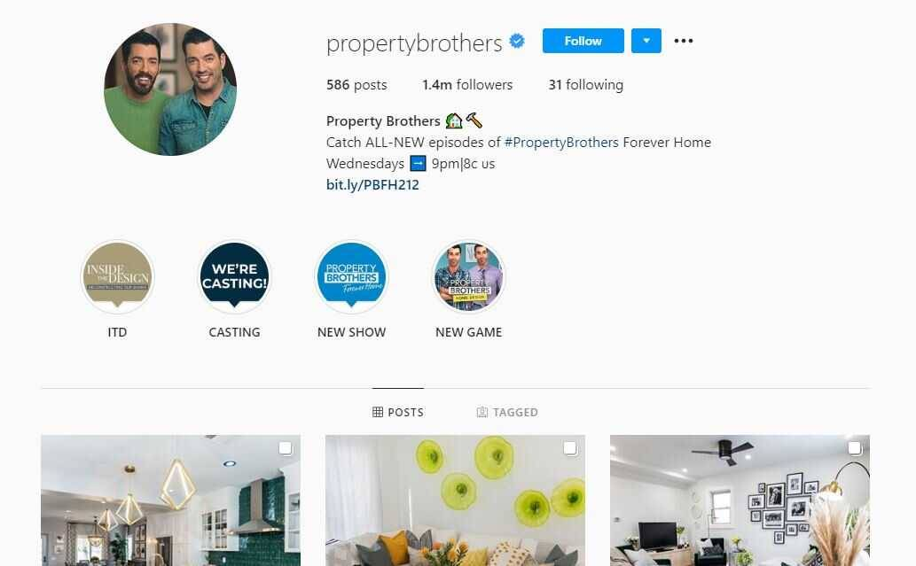 Property Brothers Instagram
