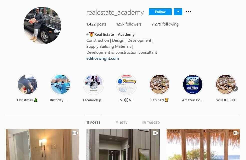 Real Estate Academy InstagramReal Estate Academy Instagram