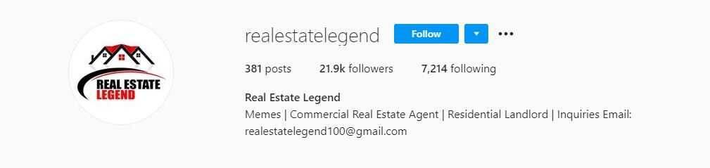 Real Estate Legend Instagram